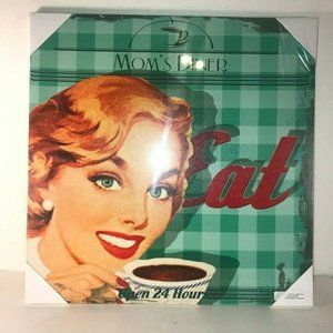 Other - Mom's Diner Open 24 Hours Retro Look Wall Decor